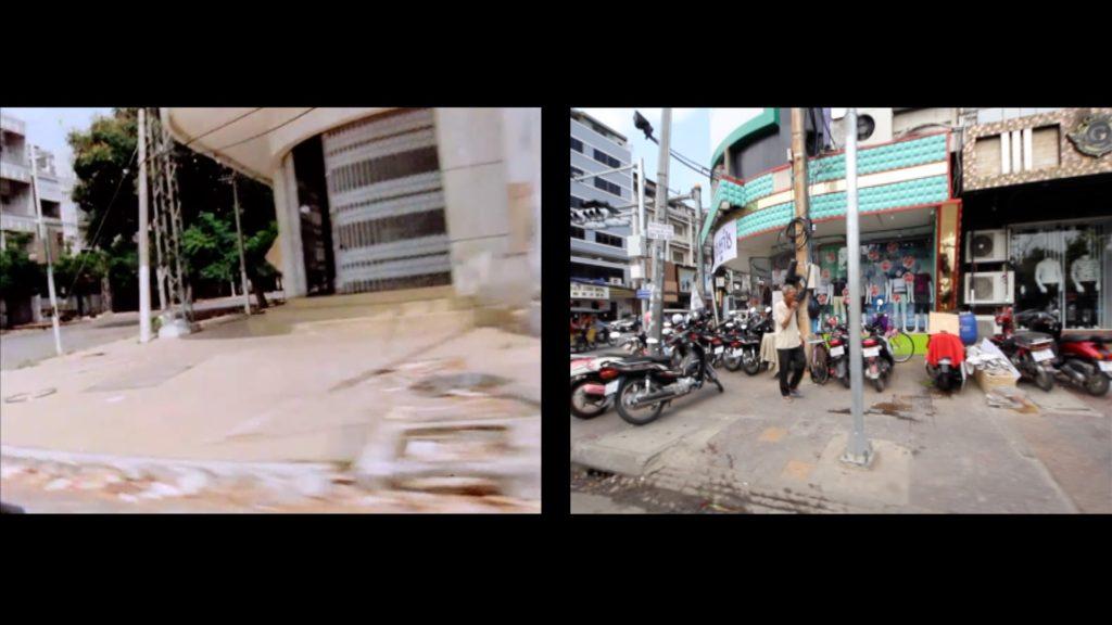 «Double crossing », 2017, installation vidéo, 6' en boucle